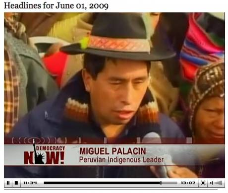 """This government disregards the indigenous people."" - Miguel Palacin"