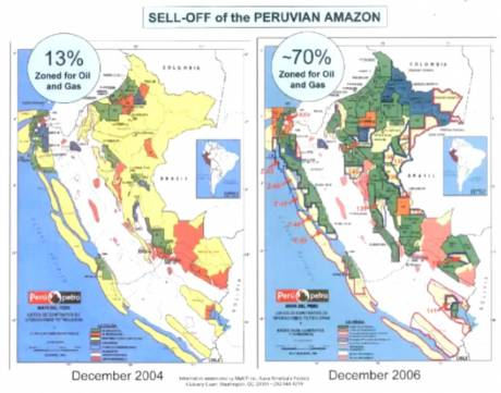 13 > 70 % Giveaway of Amazonian area resourses in 2 years