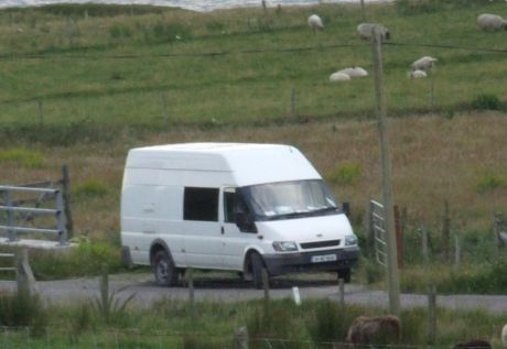 Mysterious spy van parked up near the Solidarity Camp