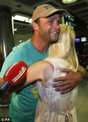 Shane Dillon arriving back in Dublin airport last night