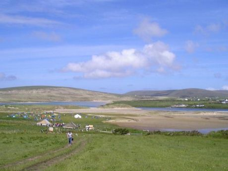 A view across the camp towards Rossport