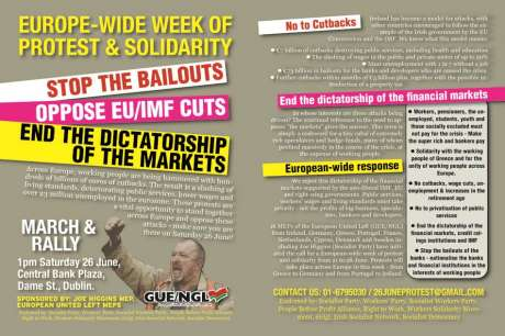 Joint leaflet for the demo on June 26th