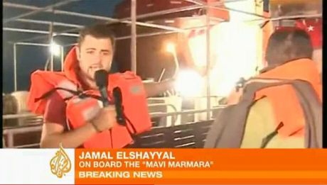 Al Jazeera's Jamal ElShayyals interviews - after and during the Mavi Marmara massacre