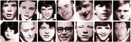 Bloody Sunday victims - Kevin McElhinney, Gerald Donaghy, John Duddy, Bernard McGuigan, Michael McDaid, William Nash, James Wray, Michael Kelly, John Johnston, John Young, William McKinney, Gerard McKinney, Hugh Gilmore, Patrick Doherty