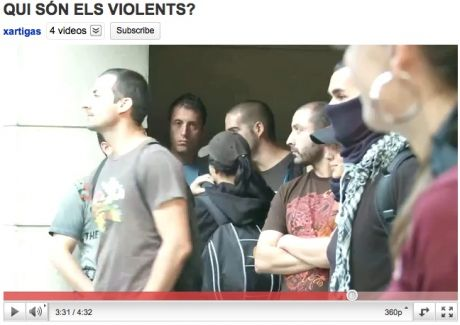 "Who are the Violent ones (from ""that vid): ""protesters"" standing in doorways, later get police escort away from the heat"