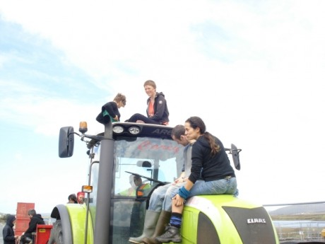 Tractor comprehensively occupied