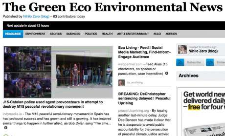 The Green Eco Environmental News: Word is spreading around TWITTER world about the illegal actions of catalan police