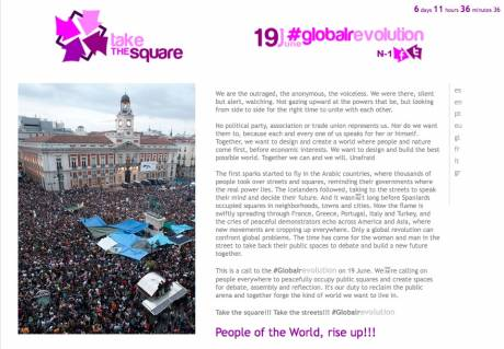 Take the square!!! Take the streets!!! #Globalrevolution