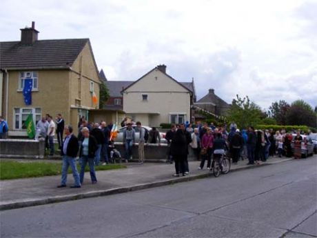 Supporters Outside Byrne Family Home