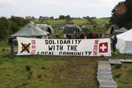 The banner on camp on the Monday evening after the gathering