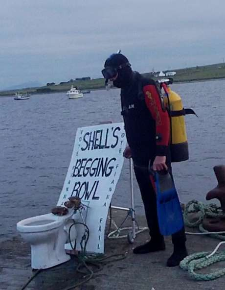 Shell's begging bowl retrieved