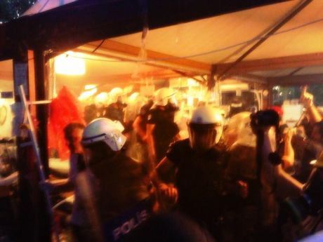 Turkish police attack medical tent