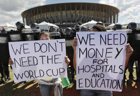 Brazil Protests: We don't need the World Cup, we need money for hospitals and education