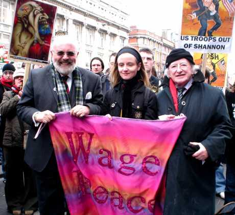 David Norris, Deirdre Clancy And Michael D - Peace Mongers All