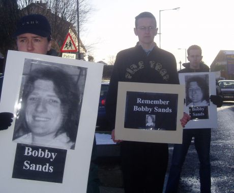 Ógra Activists holding a vigil in Omagh