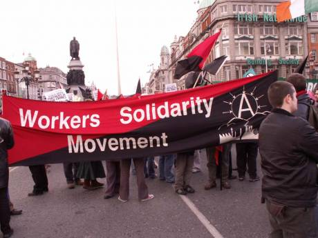 Workers Solidarity Movement take up the rear