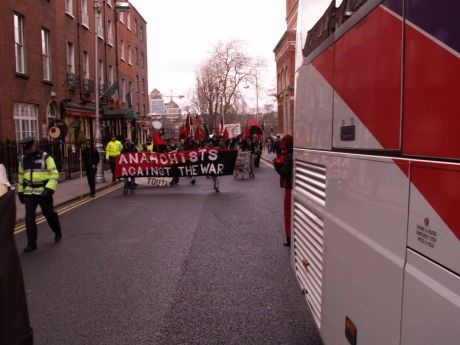 Crowd Turns Onto Kildare St.