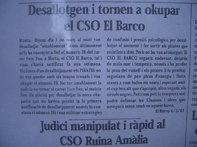 Eviction is turned by the CSO El Barco ??