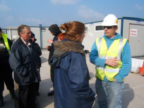 "Chatting with Steve ""stevie wonder"" health and safety person on site."