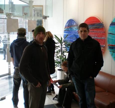 éirígí & WSM activists inside Shell HQ on Tuesday