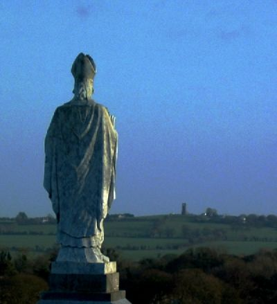Statue of St Parick on tara, facing the Hill of Skryne