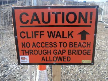 No more public access to North beach