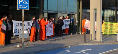 Peace vigil at Shannon airport for victims of TORTURE