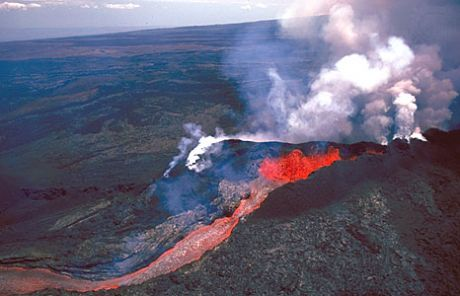 Mauna Loa - An active Volcano, spewing out lots and lots of CO2 into the atmosphere