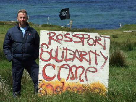 Niall at the Rossport Solidarity Camp