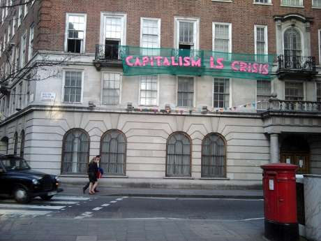 CAPITALISIM IS CRISIS - Squatted support space for Day of action in London