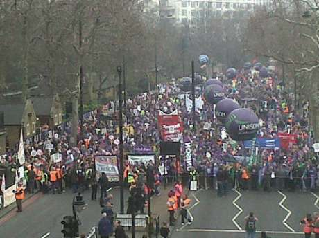 The TUC half a million man march against cuts