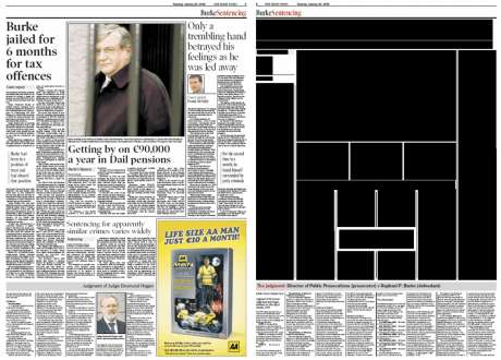 Report of jailing Ray Burke 25 january 2005 - one page redacted for legal reasons