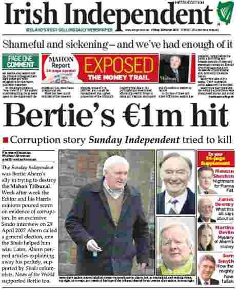 The story you won't read in Irish Independent on 23 March 2012 - but they know it's true