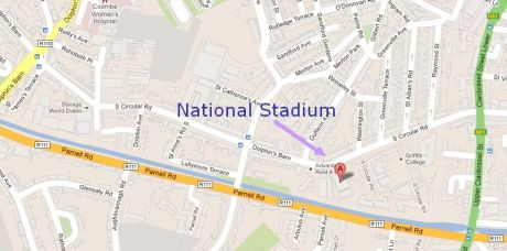 Directions to National Stadium - 24th March 1pm - 4pm