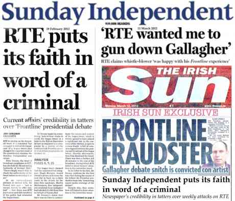 Sindo condemns RTE for taking 'word of a criminal' - then atacked RTE based on... 'word of a criminal'