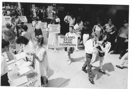 Picket at Irish airline office in New York (1991)
