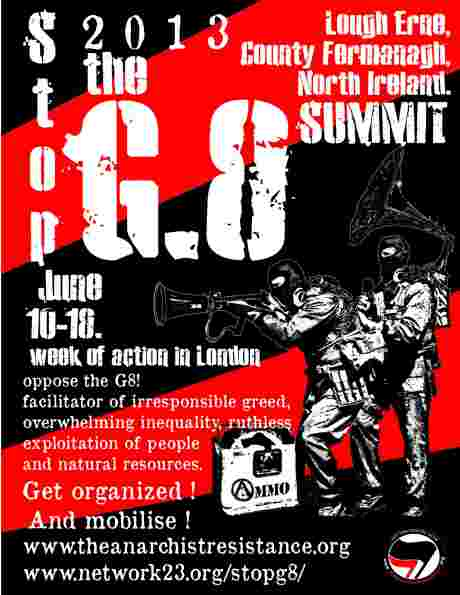 just an example of an anarchist poster against the G8