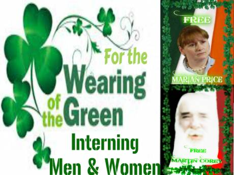 Interning Men and Women For the Wearing of the Green
