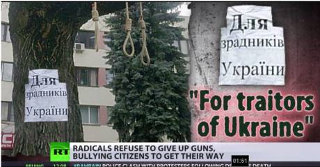 Nooses ready for 'traitors of Ukraine' -new nazi 'democrat's' show how they will deal with dissent