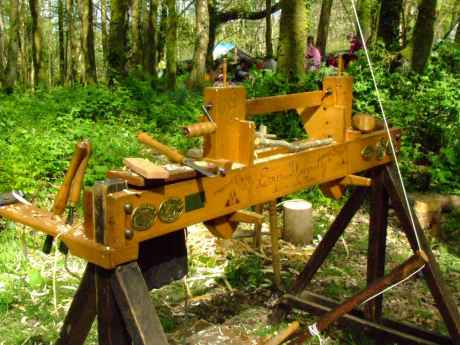 Eoin Donnelly's Pole Lathe.