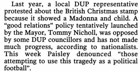 "The DUP world view: ""croppy lie down"" (McKay IT 13 May 06)"