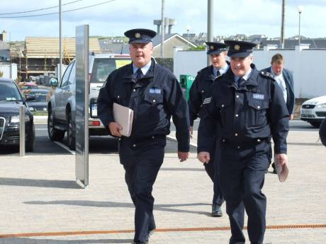 Sgt. Dermot Butler MY28 with other Gardaí.