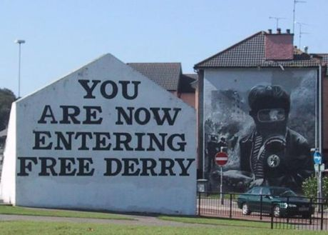 YOU ARE NOW ENTERING FREE DERRY, Paris's spark ignites Ireland