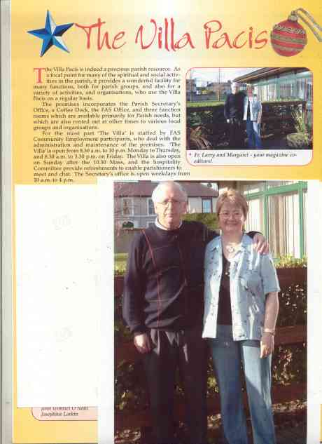 Parish Secretary and Parish Priest + 2004 Christmas Parish Magazine