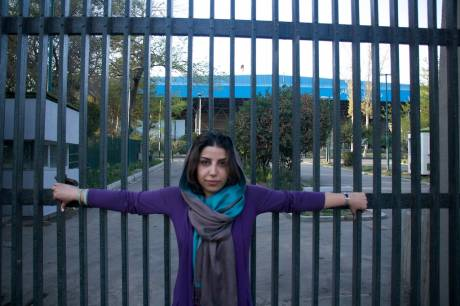 Maryam Mirza in front of the Tehran University