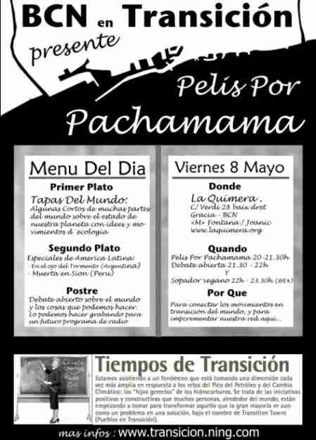BCN en TRANSITION presents: Pelis por Pachamama (Films for mother earth (Inca language)