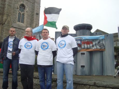 Cllr Hugh Lewis, Dr Raymond Deane, Cllr Richard Boyd-Barrett and   Cllr Gino Kenny show their support