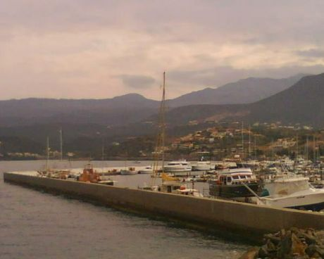 The boats departed from Aghios Nikolaos harbour, Crete, this morning