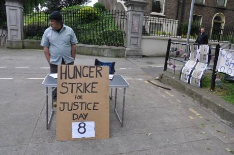 Kevin starts his hunger strike