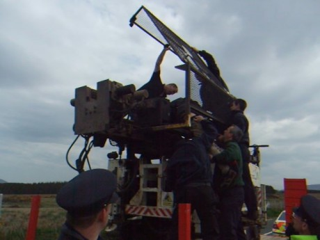 Hauling Down From Borehole Rig